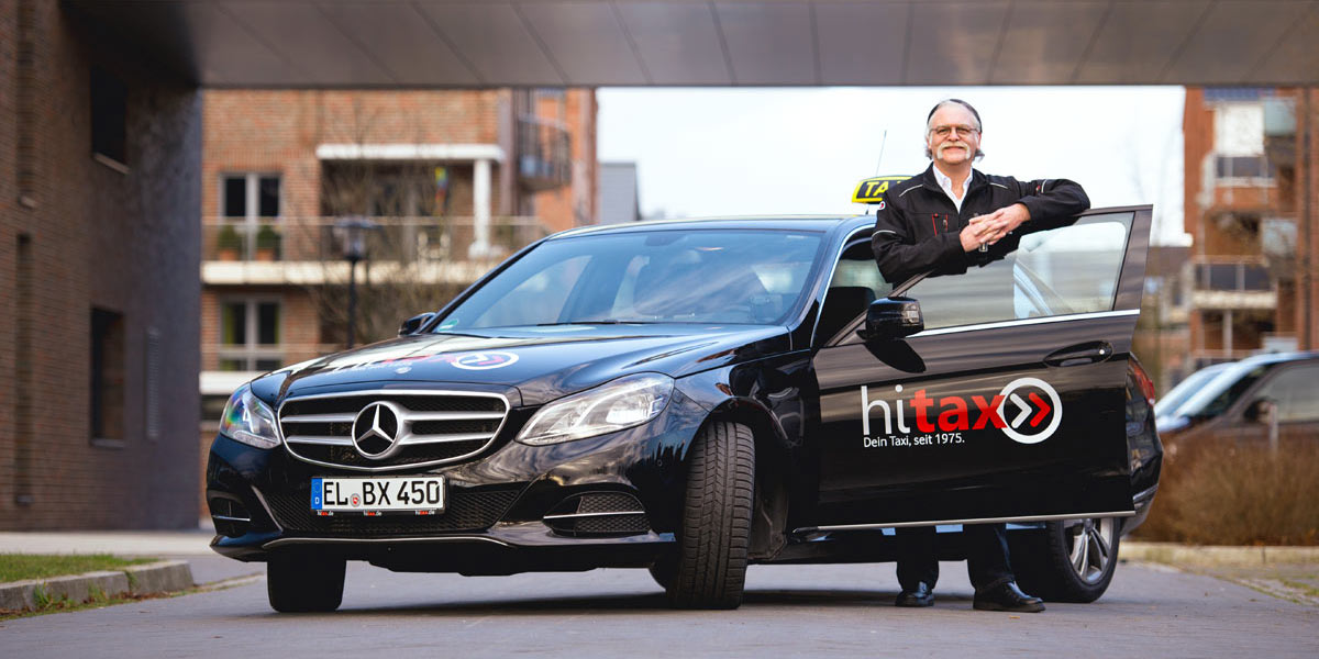 Taxi with driver